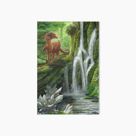 Crystal Falls Art Board Print