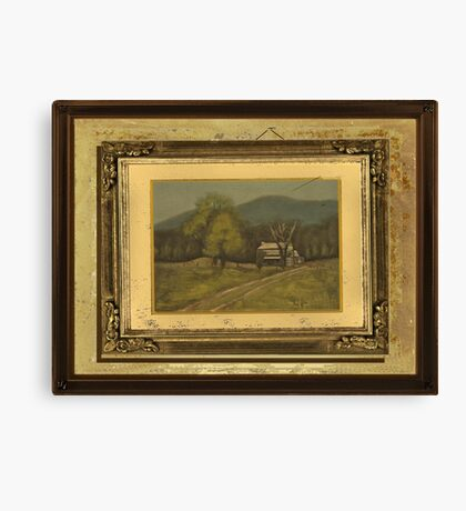 """""""Abandoned and Forgotten""""... with a textured paper impression, in a matted and framed presentation, for prints and products Canvas Print"""