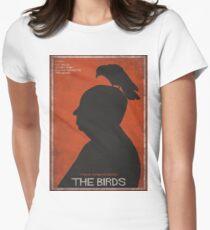 The Birds, alternative poster, printable, Alfred Hitchcock, Rod Taylor, Tippi Hedren, movie poster, retro poster, Saul Bass style Camiseta entallada para mujer