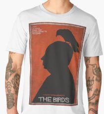 The Birds, alternative poster, printable, Alfred Hitchcock, Rod Taylor, Tippi Hedren, movie poster, retro poster, Saul Bass style Camiseta premium para hombre
