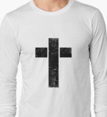 Grungy Cross Long Sleeve T-Shirt