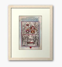 The King and Queen of Hearts Framed Print