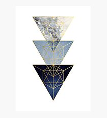 Navy and Gold Geometric Photographic Print
