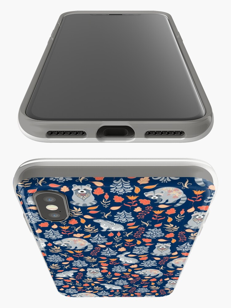Alternate view of Fairy forest with raccoons and hares, silver fir trees, flowers and herbs. iPhone Cases & Covers