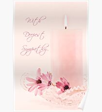 Pink Osteospernum Flowers - Sympathy Card Poster
