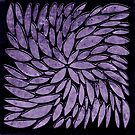 Purple Abstract Floral Delight  by Sandra Foster