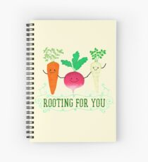 Rooting for you - Punny Garden Spiral Notebook