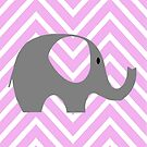 Chevron Elephant  by Shaina Haynes