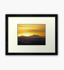 Sunset On the Rockies Framed Print