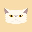 Persian Cat Pet Portrait - Princess by goddammitstacey