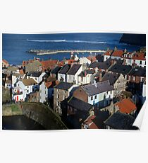 Staithes, North Yorks.  Rooftops Poster