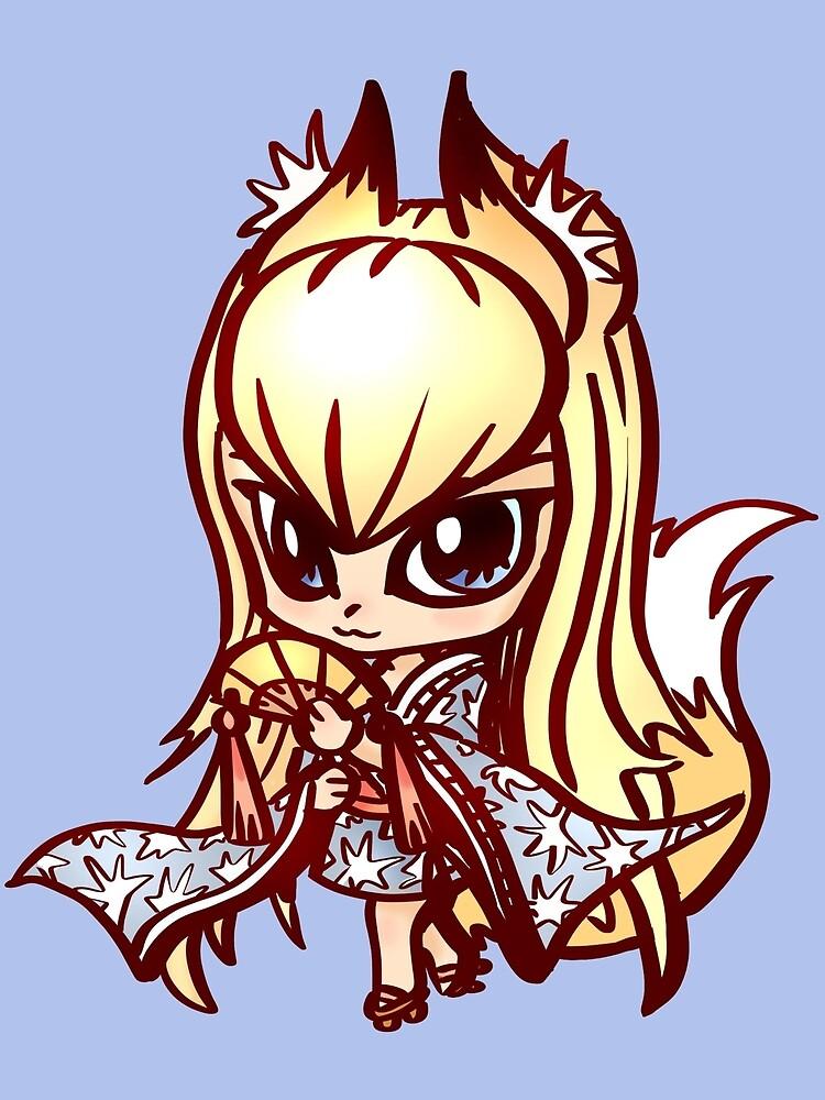 chibi kitsune by Figment Forms