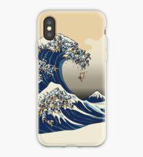 Vinilo o funda para iPhone La gran ola de Pugs Vanilla Sky