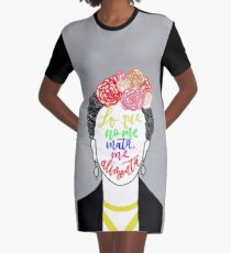 Inspirational Frida Kahlo Quote Graphic T-Shirt Dress