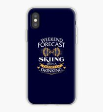 Weekend Forecast Skiing With A Chance Of Drinking iPhone Case