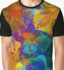Abstract Design Bright Trendy Colors Graphic T-Shirt