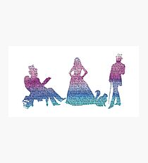 Infernal Devices - Cool Watercolor/Text Photographic Print