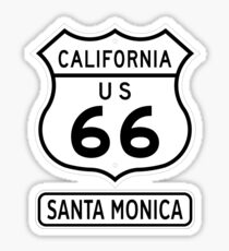 Historic Route 66 - The Mother Road - Santa Monica Sticker