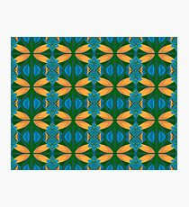 Abstract Pattern Seamless Blue Brown And Green Photographic Print