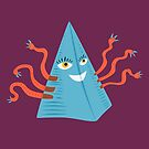 Blue Pyramid Character With Tentacles by Boriana Giormova