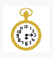 Pixel Icons: Pocket Watch Photographic Print
