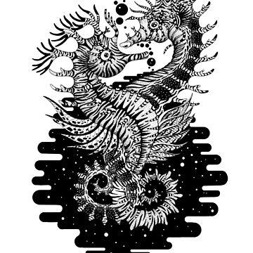 Space Seahorse Love by Ruta