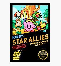 KIRBY Star Allies NES  Photographic Print