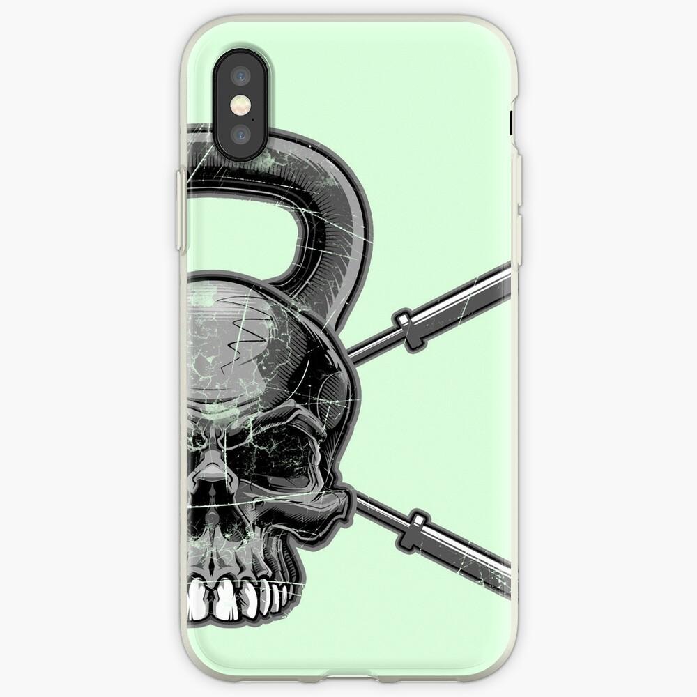 Kettlebell Crossed Barbells (ausgewaschen) iPhone-Hülle & Cover