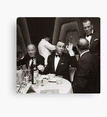 Sinatra and Ed Sullivan at the Eden Roc - Miami - 1964 Canvas Print