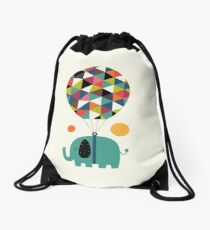 Fly High And Dream Big Drawstring Bag
