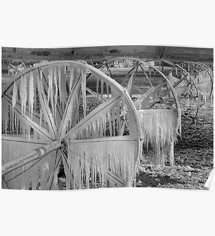 Frozen Wheels B&W Poster