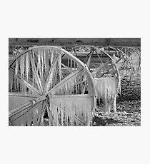 Frozen Wheels B&W Photographic Print