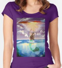 Frolicking Mermaid Women's Fitted Scoop T-Shirt