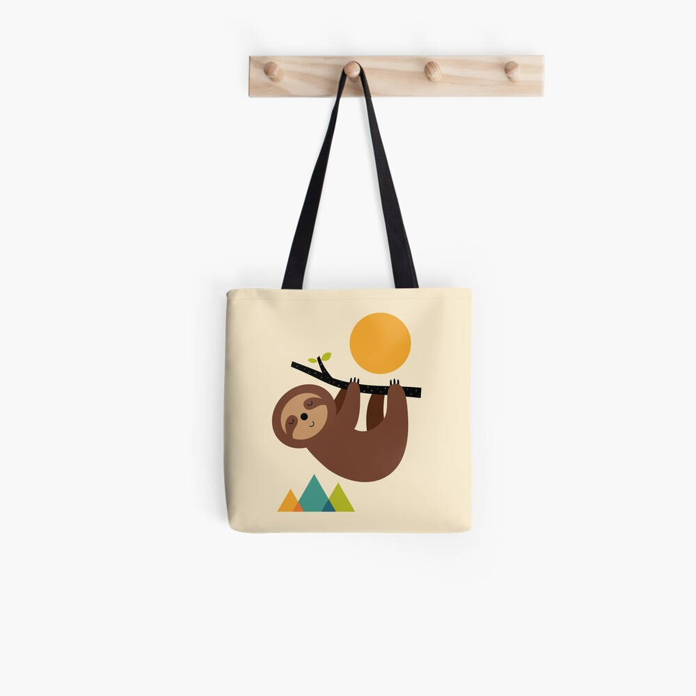 Keep Calm And Live Slow Tote Bag