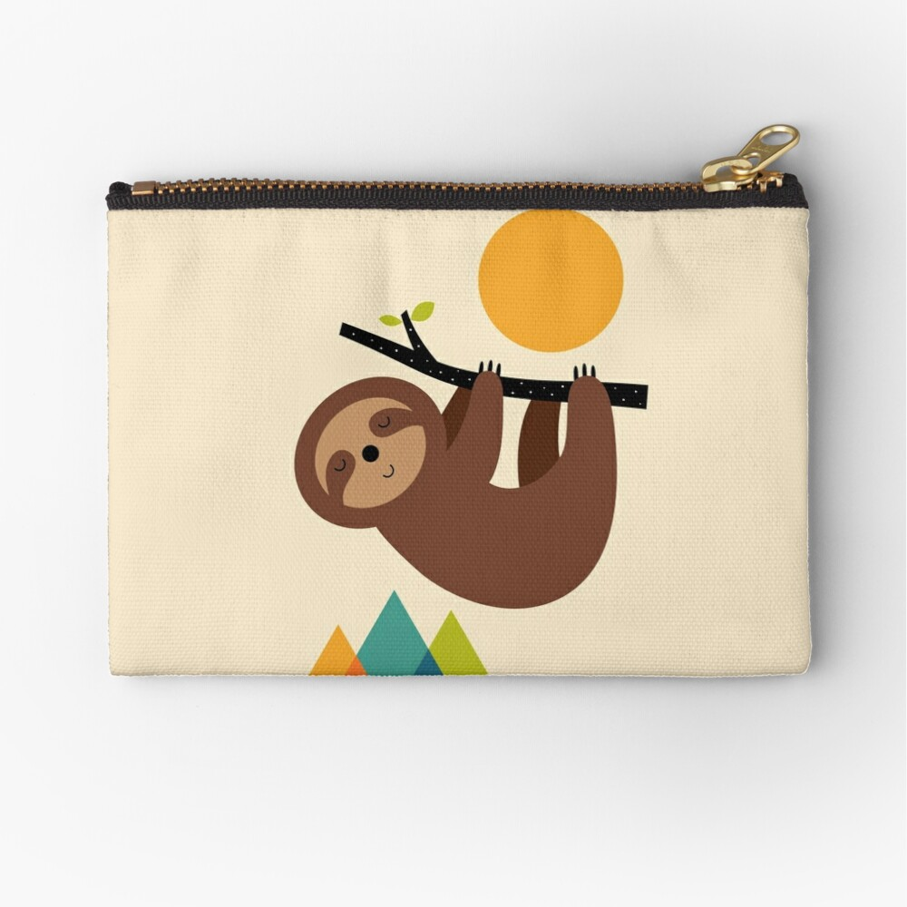 Keep Calm And Live Slow Zipper Pouch
