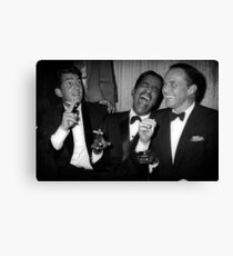 Frank Sinatra, Dean Martin, Sammy Davis Jr. Laughing Canvas Print