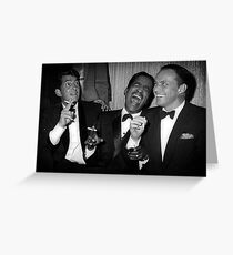 Frank Sinatra, Dean Martin, Sammy Davis Jr. Laughing Greeting Card