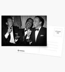 Frank Sinatra, Dean Martin, Sammy Davis Jr. Lachen Postkarten