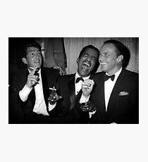Frank Sinatra, Dean Martin, Sammy Davis Jr. Laughing Photographic Print