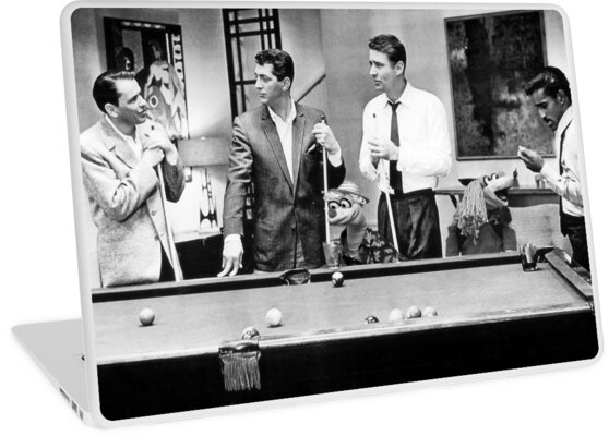 The Rat Pack Shooting Pool Laptop Skin By Britishyank
