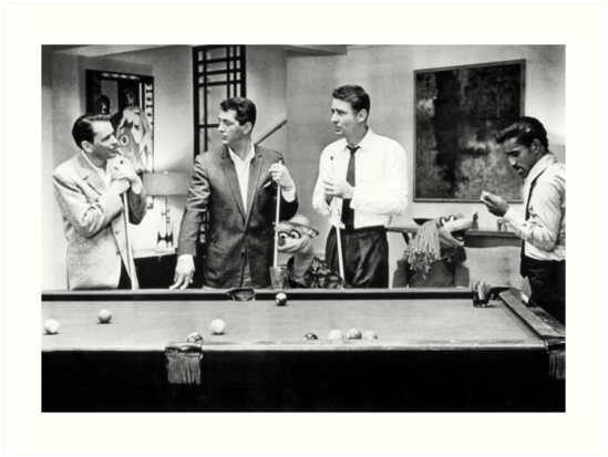 The Rat Pack Shooting Pool Art Print By Britishyank