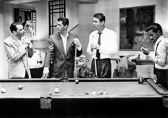 The Rat Pack Shooting Pool Poster By Britishyank