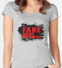 FAKE NEWS NETWORK Women's Fitted Scoop T-Shirt