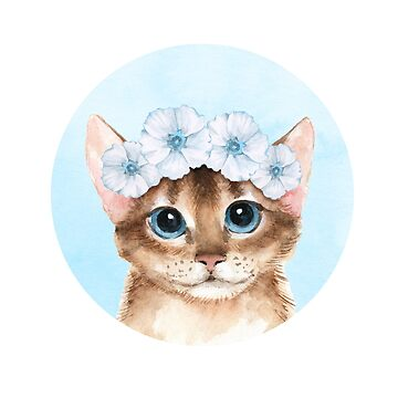 Spring cat by Gribanessa