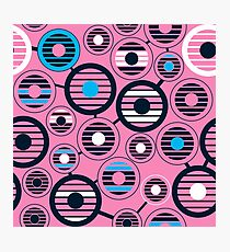80s style graphics with geometric shapes. Surrealistic background Photographic Print