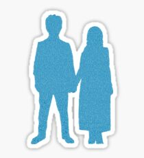Songs of Experience Lyric Silhouette Blue  Sticker