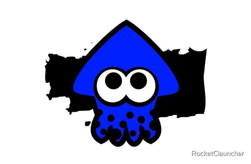 Splatoon Squid Dark Blue Studio Pouches