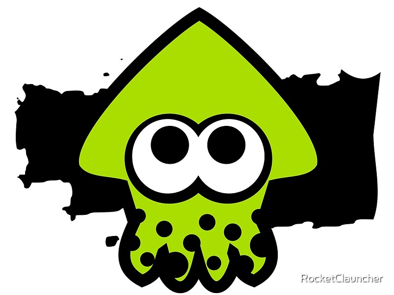 Splatoon squid green by rocketclauncher