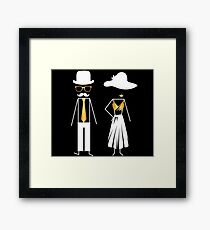 Sassy & Bewitching Hipster Couple Framed Print