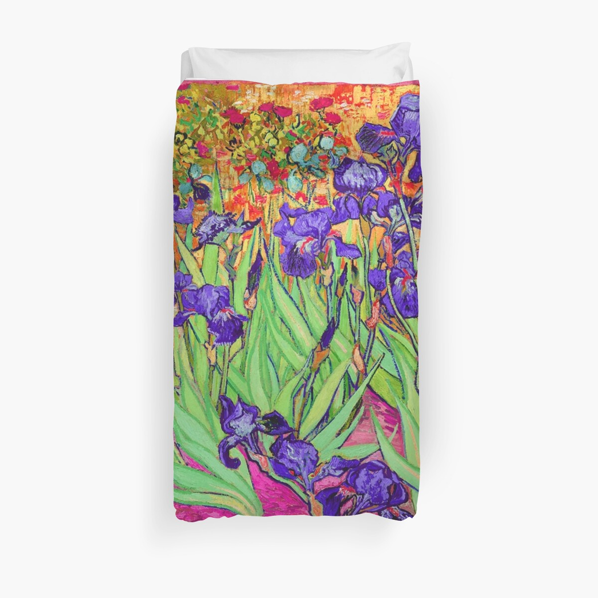 Vincent Van Gogh Purple Irises Duvet Cover